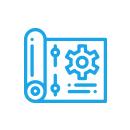 Icono de especificaciones de equipos de laboratorio para mantenimiento