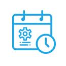 Icono de calendario para mantenimiento de equipos de laboratorio